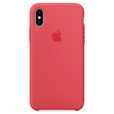 Apple Red Raspberry Silicone Coque iPhone X