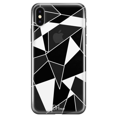 Black White Geometric Coque iPhone X/XS