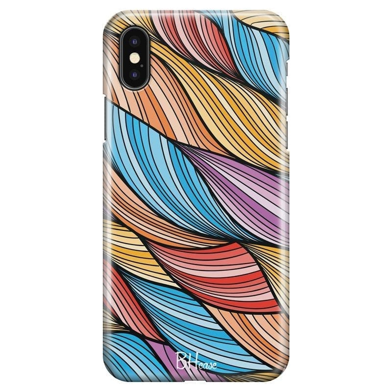 Color Waves Coque iPhone X/XS