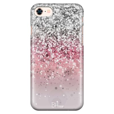 Glitter Pink Silver Coque iPhone 8/7/SE 2 2020