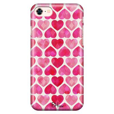 Hearts Pink Coque iPhone 8/7/SE 2 2020