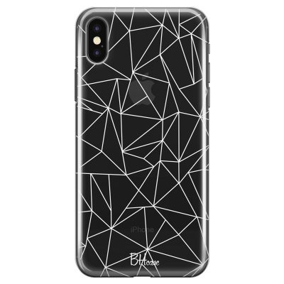 Lines White Net Coque iPhone XS Max