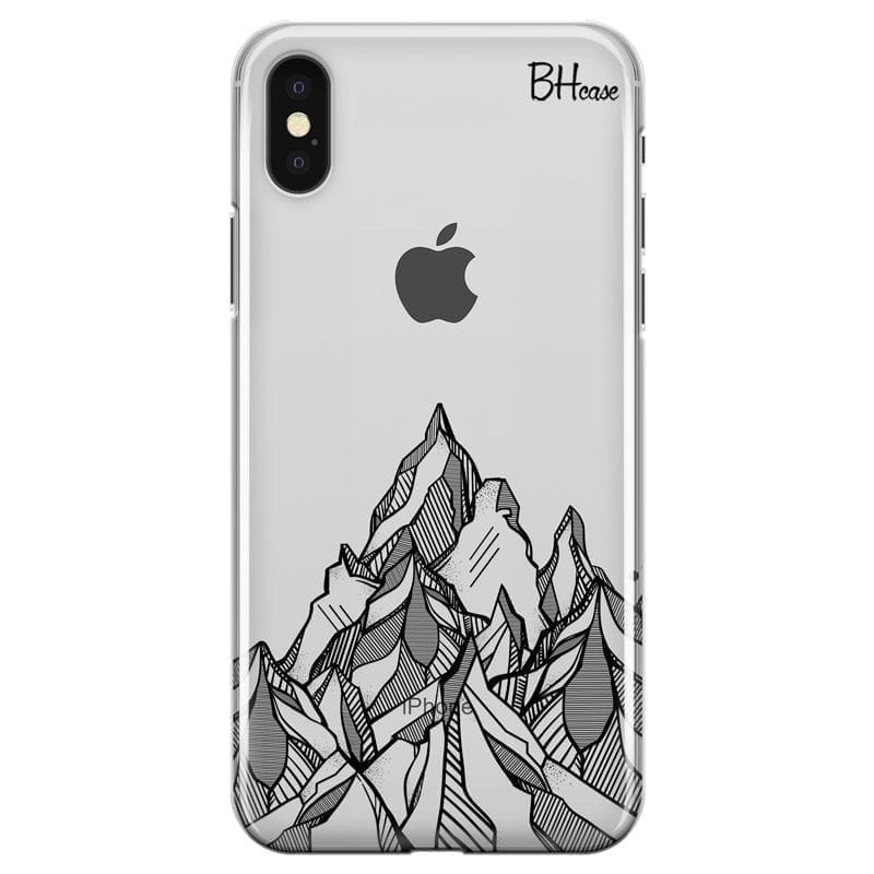 Mountains Geometric Coque iPhone X/XS