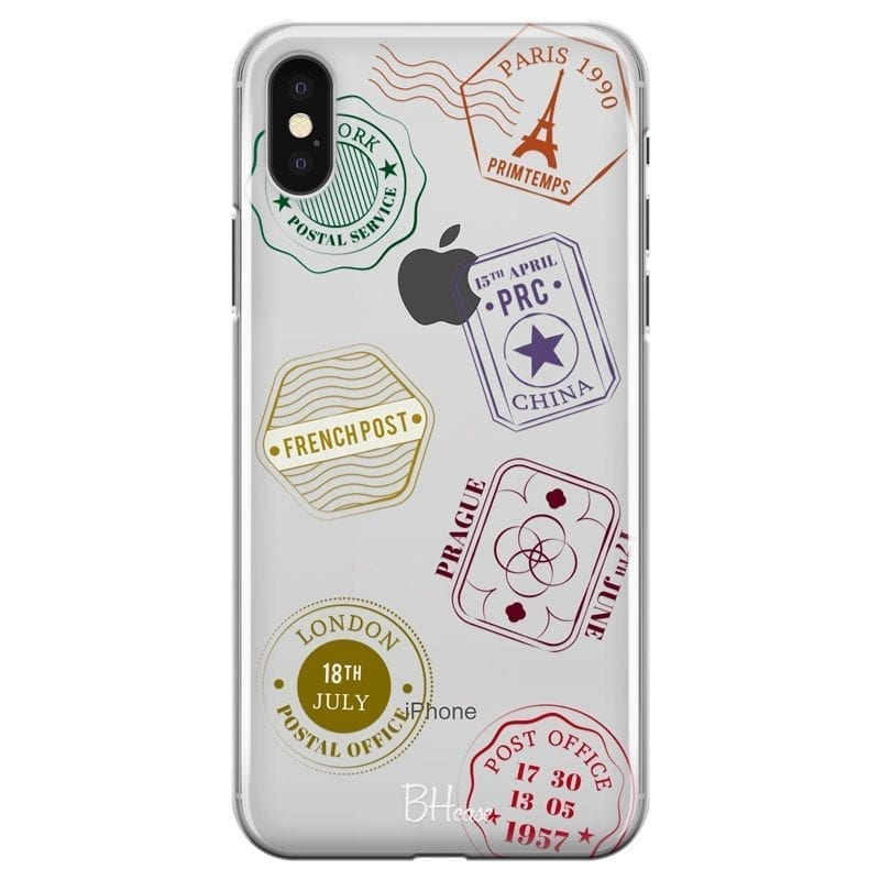 Travel Stamps Coque iPhone X/XS