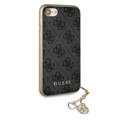 Guess 4G Grey Charms Coque iPhone 8/7/6/SE 2 2020