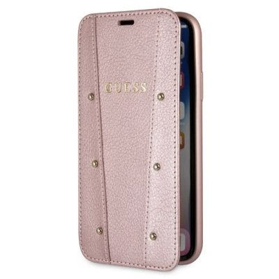 Guess Kaia Rose Gold Book Coque iPhone X/XS