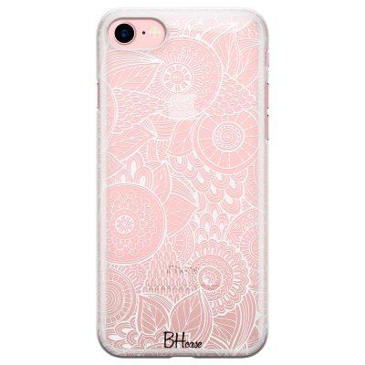 Flower Pattern Coque iPhone 8/7/SE 2 2020