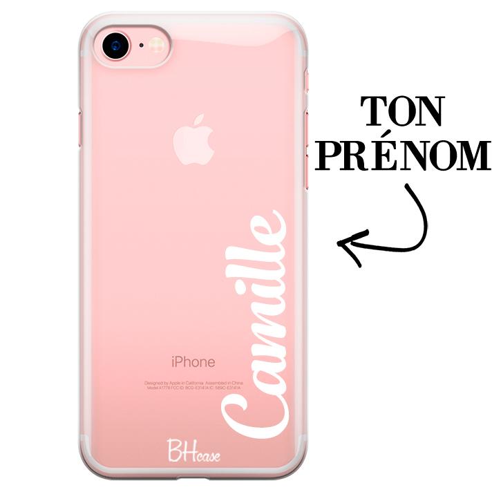 Coque avec vertical prénom pour iPhone 7/8