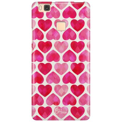 Hearts Pink Coque Huawei P9 Lite