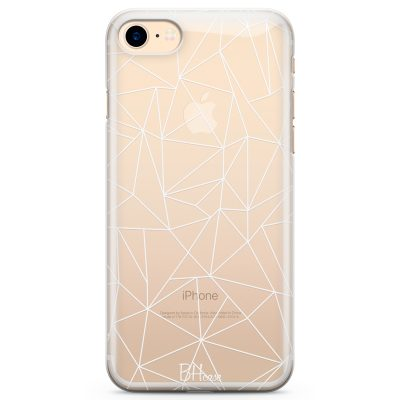 Lines White Net Coque iPhone 8/7/SE 2 2020