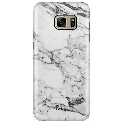 Marble White Coque Samsung S7 Edge