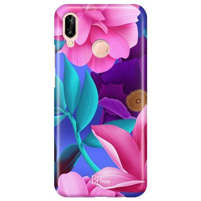 Pinky Floral Coque Huawei P20 Lite