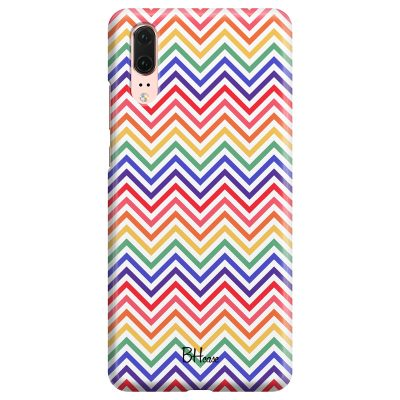 Rainbow Geometric Coque Huawei P20