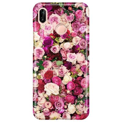Roses Pink Coque Huawei P20 Lite