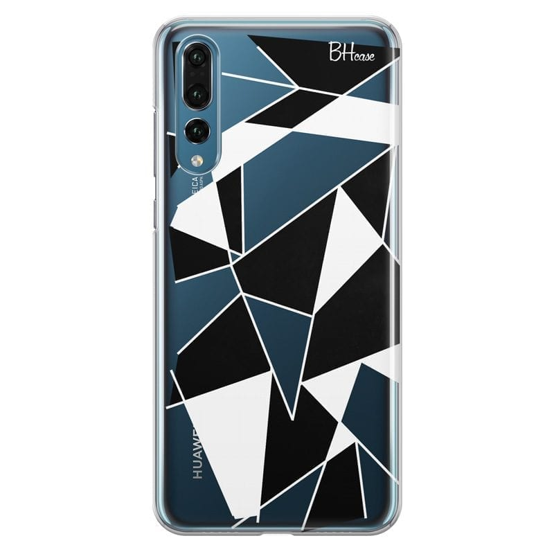 Black White Geometric Coque Huawei P20 Pro