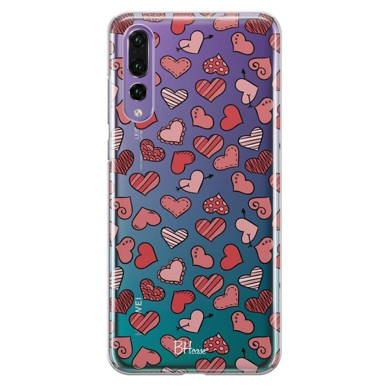 Hearts Red Coque Huawei P20 Pro