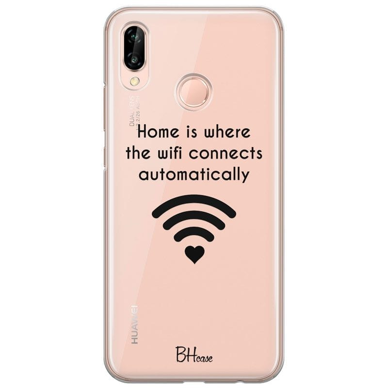 Home Is Where The Wifi Connects Automatically Coque Huawei P20 Lite