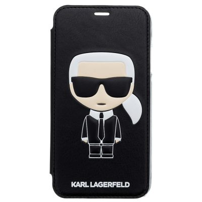 Karl Lagerfeld Ikonic Black Book Coque iPhone X/XS