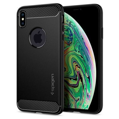 Spigen Rugged Armor Matte Black Coque iPhone XS Max