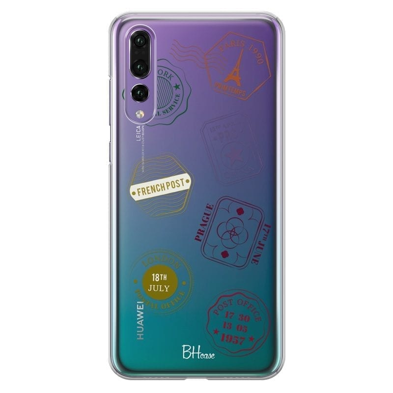Travel Stamps Coque Huawei P20 Pro