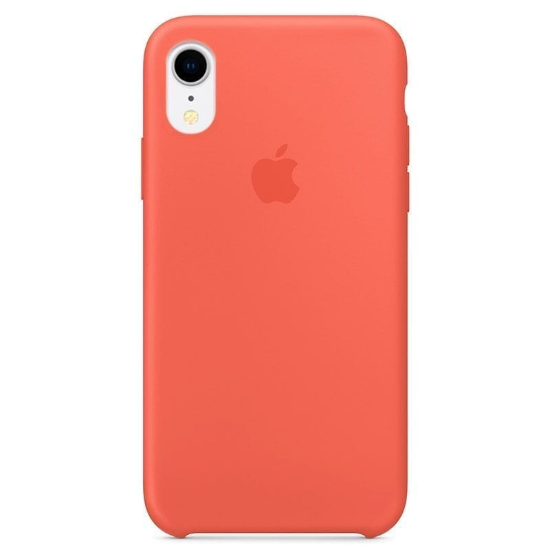 Apple Nectarine Silicone Coque iPhone XR