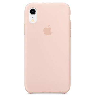 Apple Pink Sand Silicone Coque iPhone XR