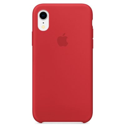 Apple Product Red Silicone Coque iPhone XR