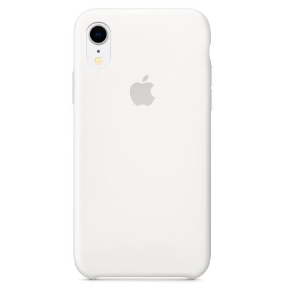 Apple White Silicone Coque iPhone XR