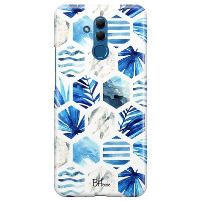 Blue Design Coque Huawei Mate 20 Lite