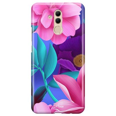 Pinky Floral Coque Huawei Mate 20 Lite