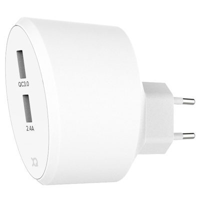Xqisit Travel Charger White 2x USB A