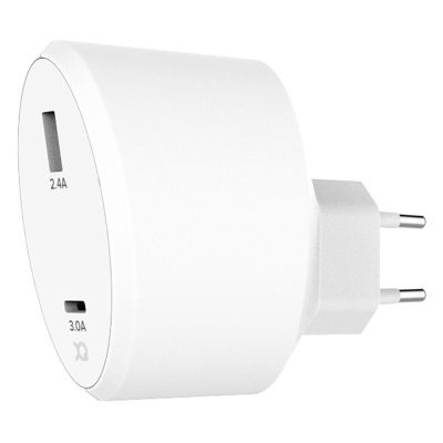 Xqisit Travel Charger White USB-A USB-C