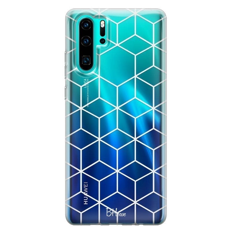 Cubic Grid Coque Huawei P30 Pro