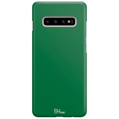 Dark Spring Green Color Case Samsung S10