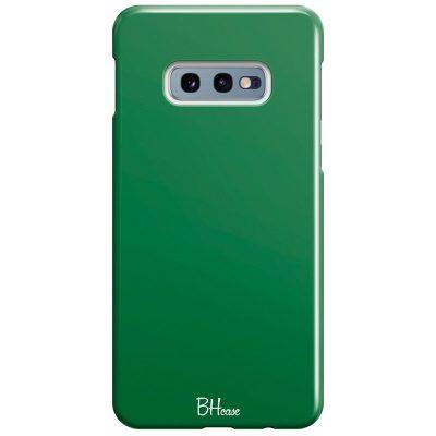 Dark Spring Green Color Coque Samsung S10e