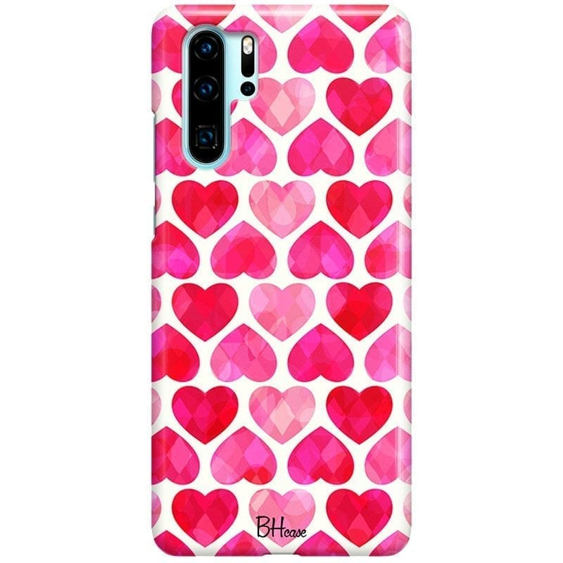 Hearts Pink Coque Huawei P30 Pro