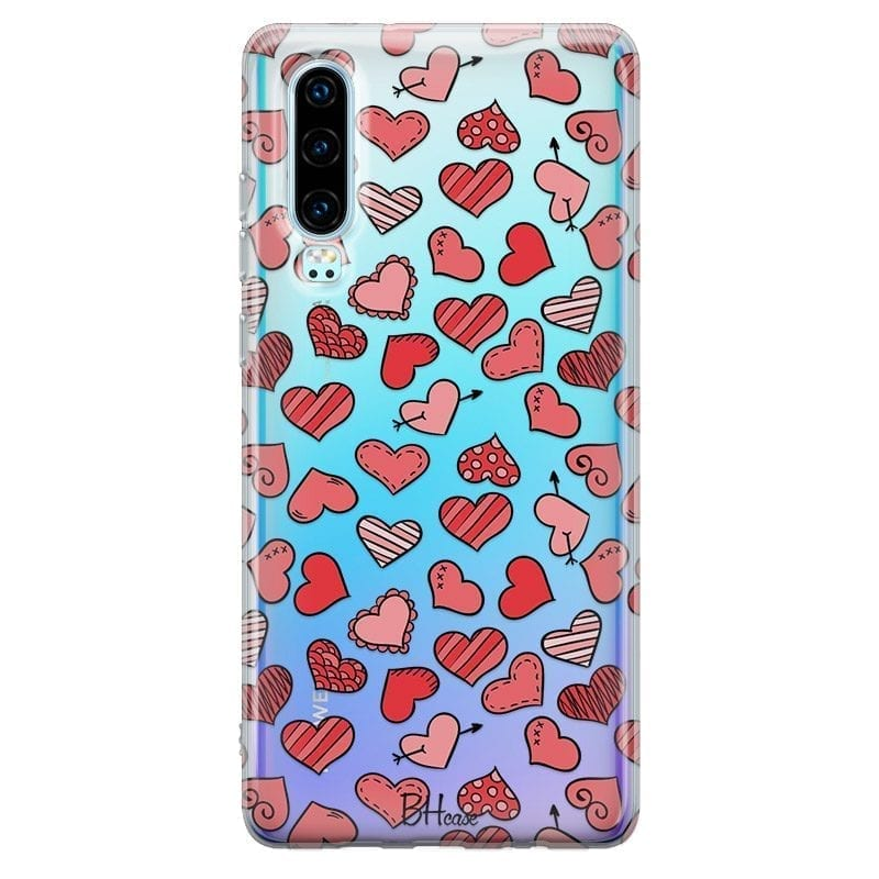 Hearts Red Coque Huawei P30