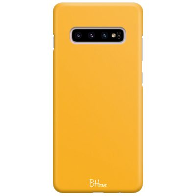 Honey Yellow Color Case Samsung S10