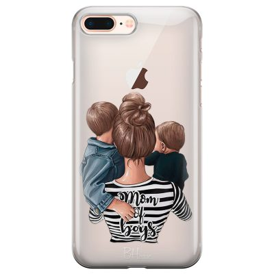 Mom of Boys Coque iPhone 7 Plus/8 Plus