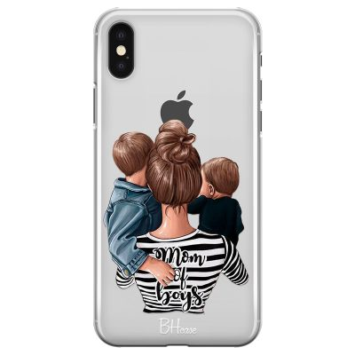Mom of Boys Coque iPhone XS Max