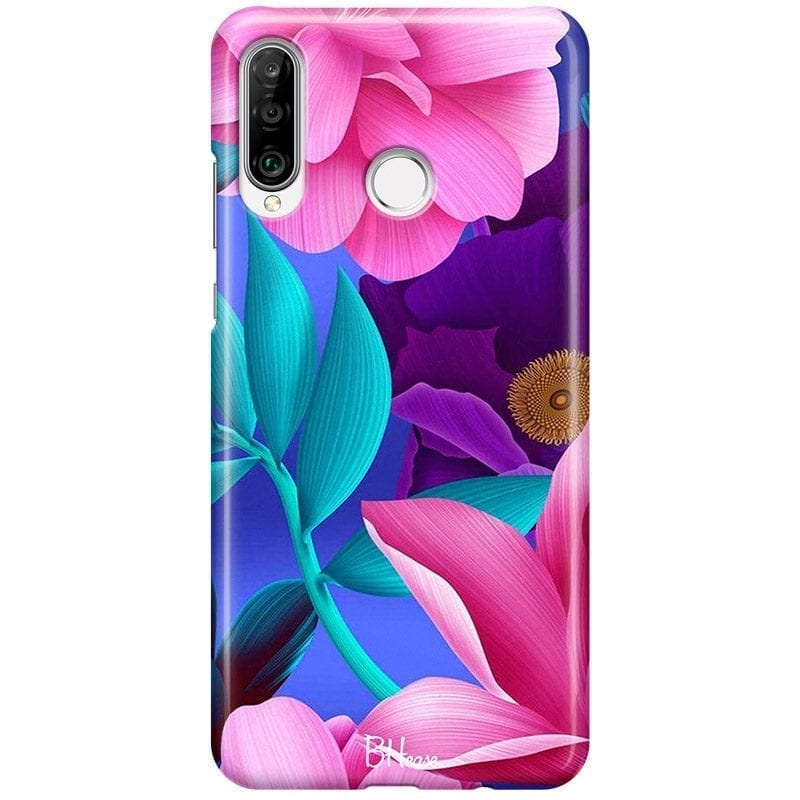 Pinky Floral Coque Huawei P30 Lite
