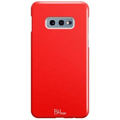 Red Apple Color Coque Samsung S10e