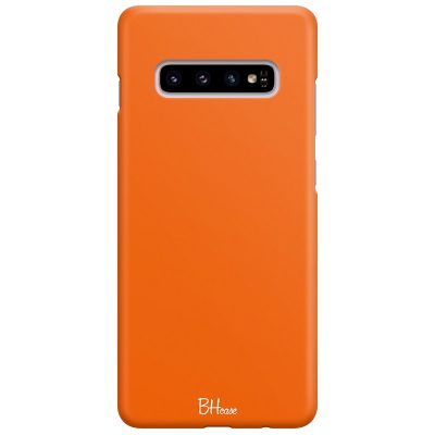 Tiger Orange Color Case Samsung S10