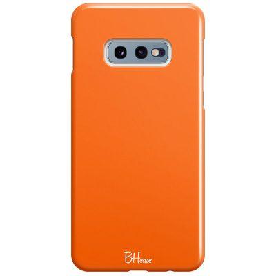 Tiger Orange Color Coque Samsung S10e