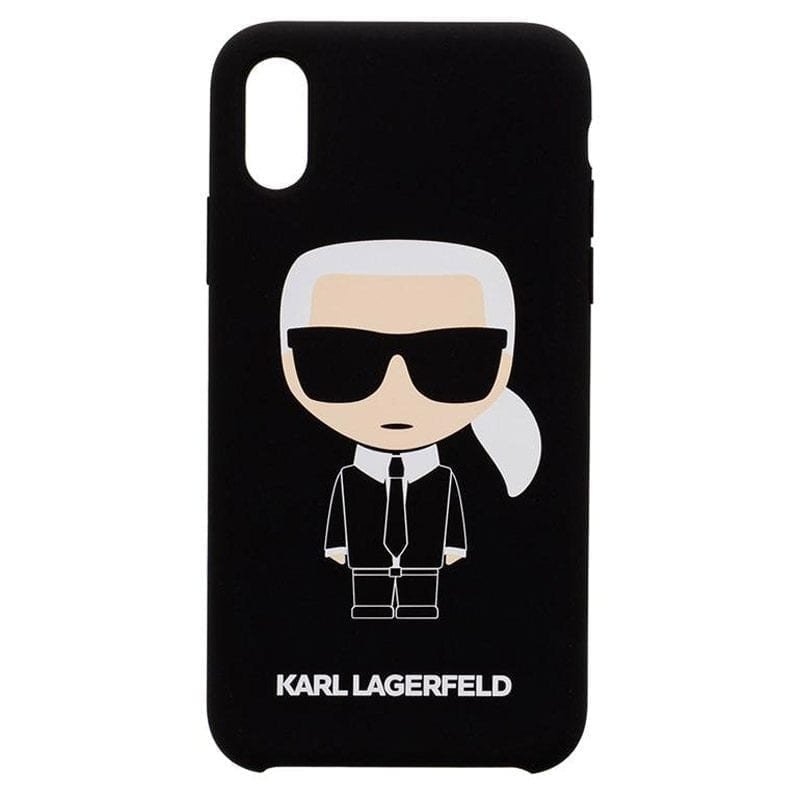 Karl Lagerfeld Ikonic Silicone Black Coque iPhone XR
