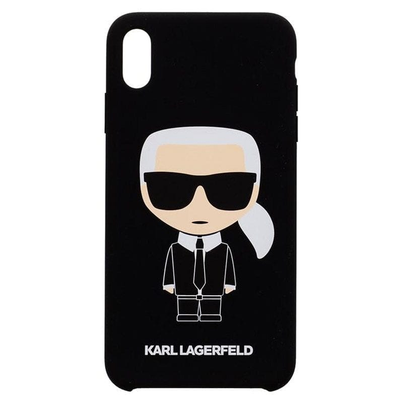 Karl Lagerfeld Ikonik Silicone Black Coque iPhone XS Max