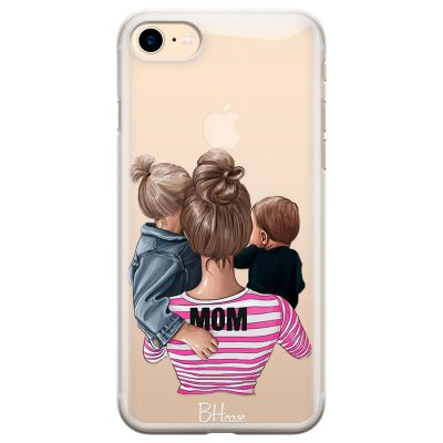 Mom Of Boy And Girl Coque iPhone 7/8