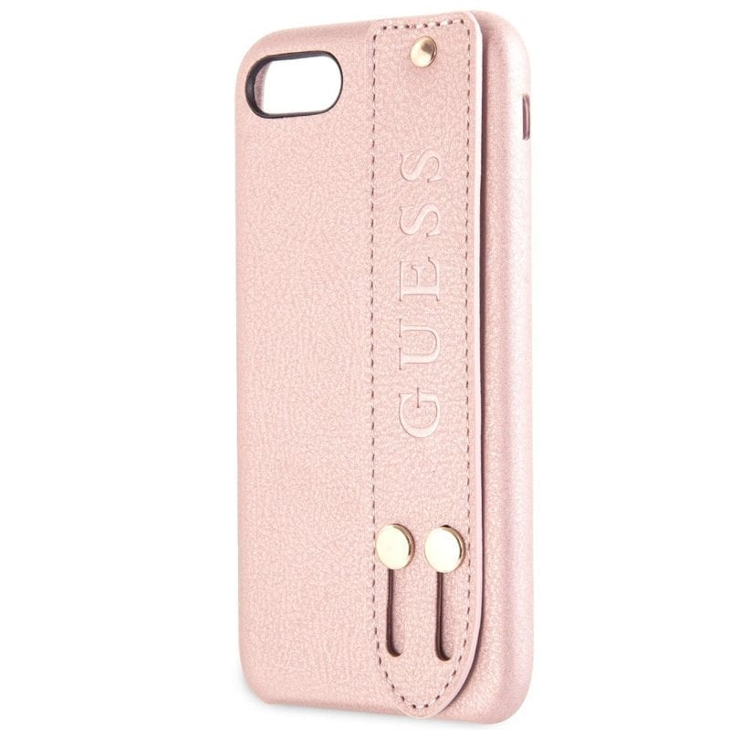 Guess Saffiano Strap Rose Coque iPhone 8/7