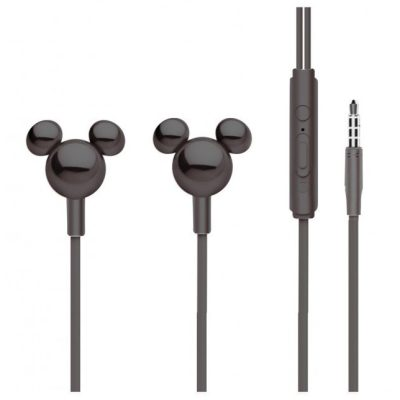Disney Stereo Earphones 3.5mm Mickey Mirror Black
