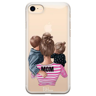 Mom Of Girl And Boy Coque iPhone 7/8